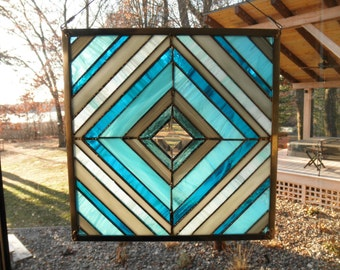 Peaceful Stained Glass Panel
