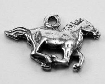 Horse pendant 1 bail Australian Pewter af364