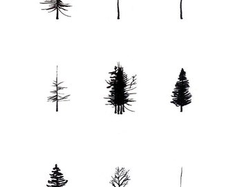 "13x19"" trees print"