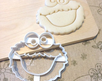 Cookie Monster Cookie Cutter - Fondant Icing Cake Cupcake Topper Iced Sugar Cookies Mould Birthday Sesame Street Party Favors Baby Shower