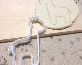Giraffe Cookie Cutter - Fondant Icing Cake Cupcake Topper Iced Sugar Cookies Mold Biscuit Mould Zoo Jungle Safari Animal Kids Birthday Party