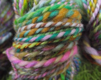 Handspun yarn, handpainted yarn, Polwarth wool, worsted weight, multiple skeins available-Lollipop