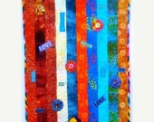Black History Sale Swimming Upstream, Number 5, 19 x 39 inch art quilt