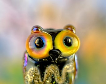 Greta.......... lampwork owl bead....... sra