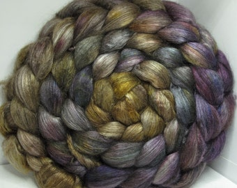 Yak Bombyx Silk 50/50 Roving Combed Top - 5oz - Tanglewood 1