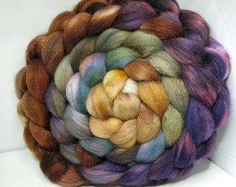 Organic Polwarth/Bombyx 80/20 Roving Combed Top 5oz - Tanglewood 1