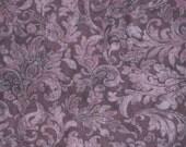 "Jinny Beyer RJR All Cotton Print Fabric Porcelana Floral Tone on Tone 45"" wide BTY OOP Dusty Purple Wine"