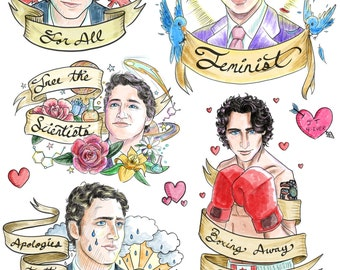 Justin Trudeau Temporary Tattoos