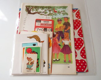 Vintage 25 Piece Paper Pack Scrapbooking Ephemera Inspiration Kit