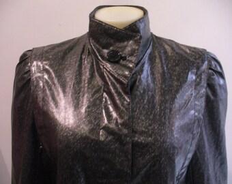 Vintage Long Black Nylon Jacket