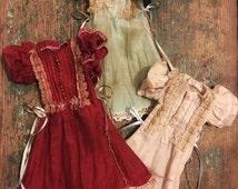 Jiajia Doll limited 3 color to choose vintage coffee dye rabbit set dress in Green for blythe momoko azone pullip dorandoran middie blyte