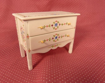 Dollhouse miniature chest  with drawers 1:12 scale