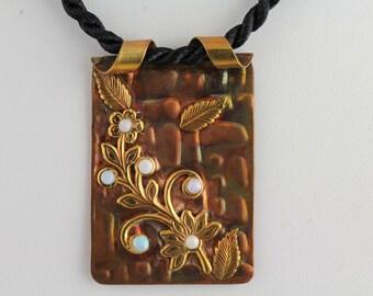Opal Copper Pendant. Listing 259686488
