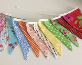 Summer Bunting / Flag / Garland - Bright Summer Shades - 2.5m or 98