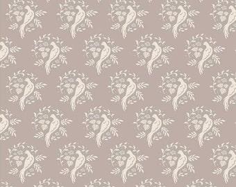 Tilda Fat Quarter, Tilda Bird Sand Fat Quarter, All That is Spring Collection, Pure Cotton Fabric, Fat Quarter, 50 cm x 55 cm