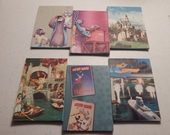 Up cycled Note Pads Party Favors Walt Disney World  Disneyland