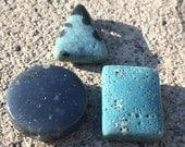 Leland Blue Stone bead pendant  -LAKE GEMS- your choice - free shipping