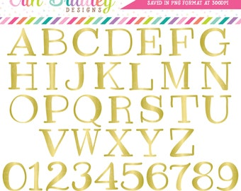 ON SALE Gold Foil Alphabet Clipart Instant Download Commercial Use Alpha Clip Art for Digital Scrapbooking
