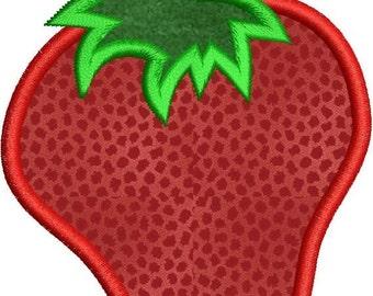 SALE 65% off Applique Strawberry Machine Embroidery Designs 4x4 & 5x7 Instant Download Sale