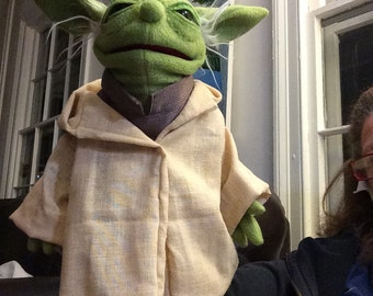 Star Wars look alike portrait  Muppet Puppet Great gift  Starwars lovers  YouTube movies  teachers  aid TV show