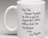 Dear Dad - CUSTOMIZABLE Coffee Cup