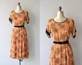 Dahlman's Pass dress | vintage 1950s dress | printed rayon 50s dress