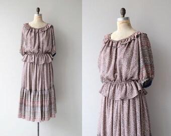 Hejira silk floral dress | vintage 1970s silk floral dress | two piece 70s bohemian dress