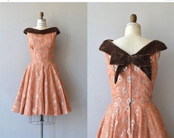 25% OFF.... Lyrae dress | vintage 1950s dress | metallic 50s party dress
