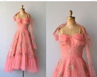 25% OFF.... Fool's Gold dress | vintage 1950s dress • formal 50s dress