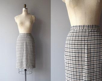 Coffee & Tea skirt | vintage 1950s skirt | 50s pencil skirt