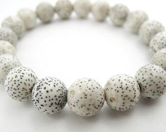 Beautiful White Lotus Seed Bracelet