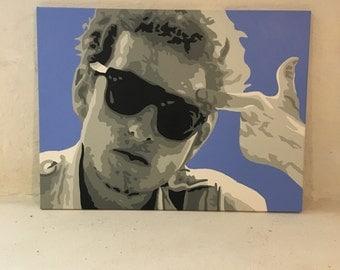 """18"""" x 24"""" Bob Dylan Painting"""