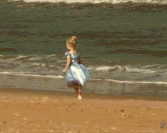Princess on the Sand - Photo ART Print