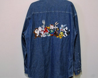 Vintage Shirt Looney Tunes Denim