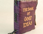 Purple Leather Journal. The Book of Good Ideas