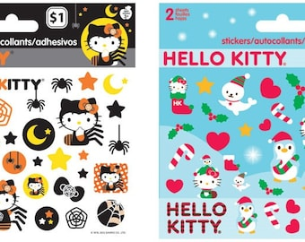 Hello Kitty Stickers - Halloween or Christmas | Kids Stickers | Characters | Cartoon Cat | Japanese