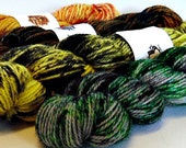 Harry Potter Mini-Skein Set - Speckled - Hand Dyed Merino and Nylon Sock Yarn - Entree