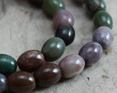 ON SALE NOW Fancy Jasper Oval Beads 8mm x 6mm - half strand