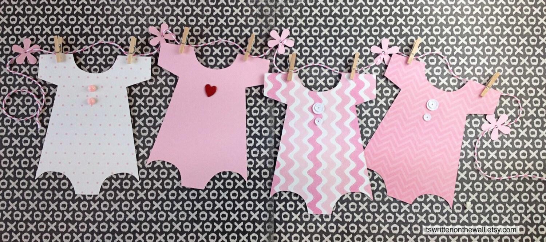 kit baby shower banner onesie banner baby shower decoration