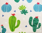 Cactus Fabric - Japanese Cotton Canvas - Half Yard - Cosmo Textiles