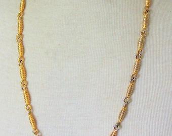 ANNE KLEIN Necklace Signed Gold Tone Link Vintage