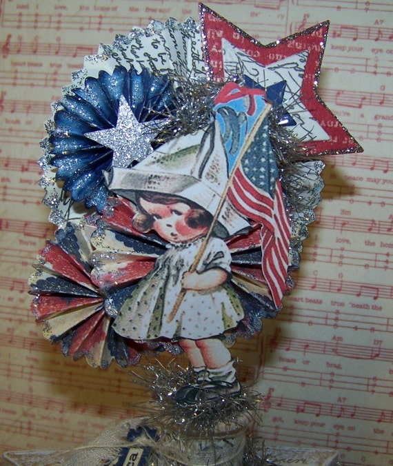 Th of july decoration vintage style
