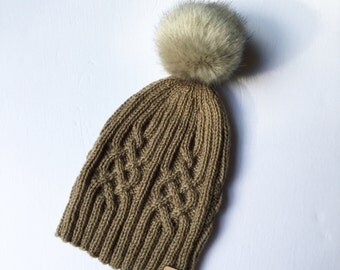 Reserved for Diane, knit hat, Celtic cable, Magnolia, Mary, Isabella