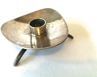Mid Century Danish Sterlng Silver Candle holder~ Cohr Denmark