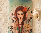Illustrated notebook - notebook - A6 - The Floating World