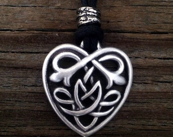 Celtic Knot Heart Pewter Pendant
