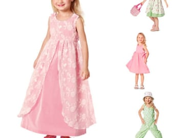 GIRLS CLOTHES PATTERN / Make Pullover Dress - Jumpsuit - Party Dress / Sizes 2 years to 6 years