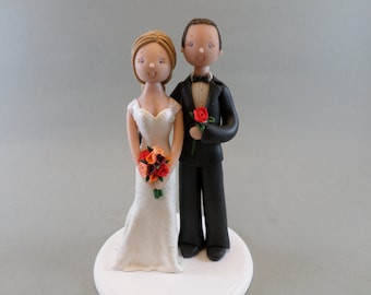 Bride & Groom Custom Made Wedding Cake Topper