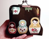 Matryoshka Dolls Clutch Purse - Small