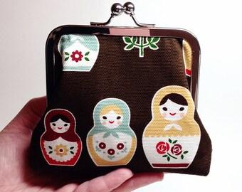 Matryoshka Dolls Clutch Purse - Small